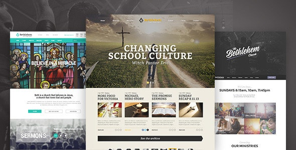 Bethlehem - Church WordPress Theme - Churches Nonprofit