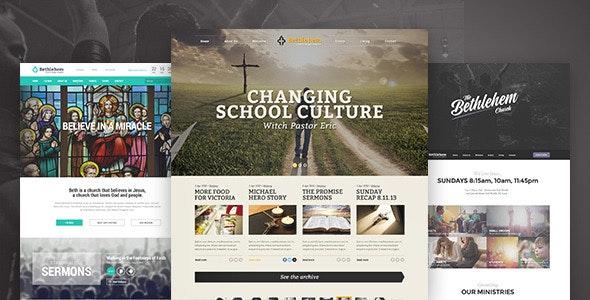 Bethlehem - Church WordPress Theme - Churches Nonprofit