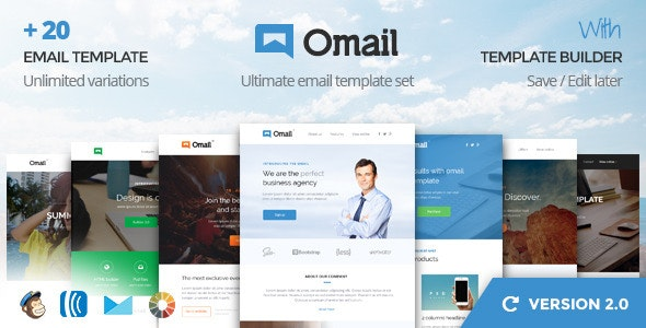 Omail -  Email Templates Set with Online Builder - Email Templates Marketing