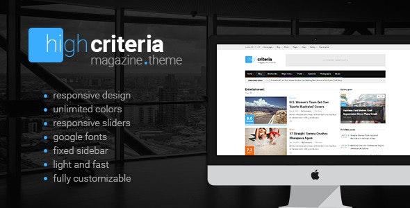HighCriteria - Flat & Clean Magazine Theme - News / Editorial Blog / Magazine