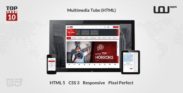 TOP 10 - Multimedia Tube  - Entertainment Site Templates