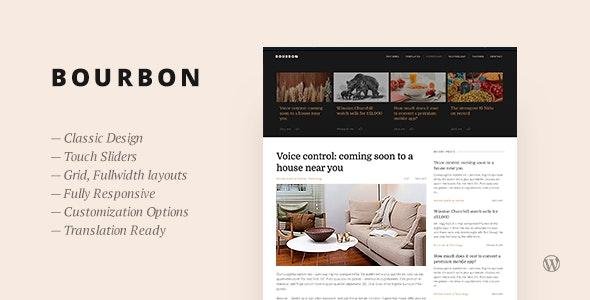 Bourbon — Responsive WordPress Blog Theme - Personal Blog / Magazine