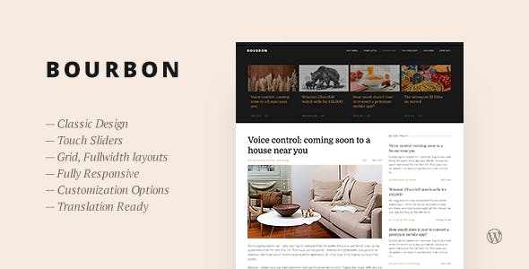 Bourbon — Responsive WordPress Blog Theme