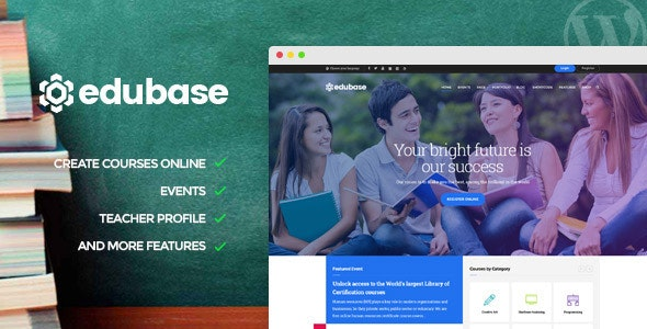 Edubase Course, Learning, Event WordPress Theme - Education WordPress