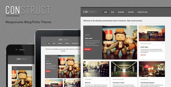 Construct, a Responsive WordPress Blog/Folio Theme - Blog / Magazine WordPress