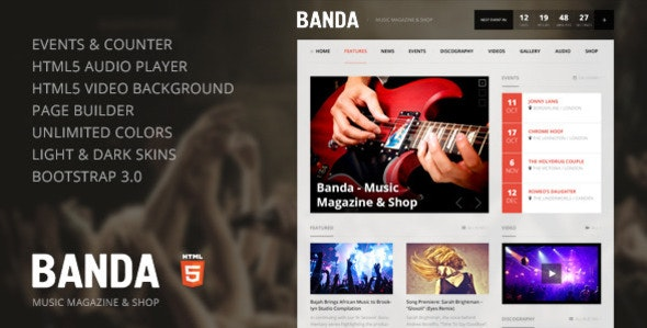 Banda - HTML5 Music Magazine - Music and Bands Entertainment