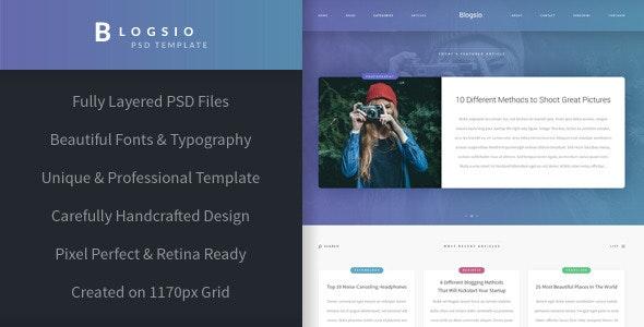 Blogsio - Blogging PSD Template - Miscellaneous Photoshop