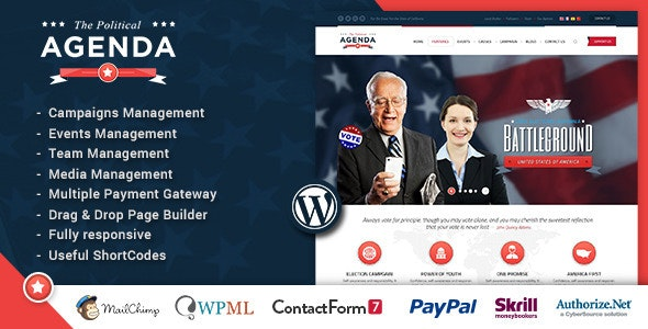 Agenda | Political Responsive WordPress theme - Political Nonprofit