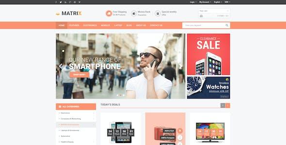 Matrix - Multi-Purpose eCommerce PSD Theme
