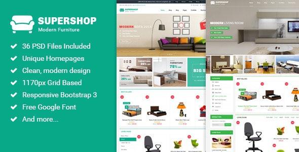 Supershop - Multi-Purpose eCommerce PSD Theme - Retail Photoshop