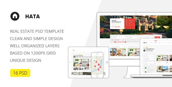 Hata — Real Estate PSD Template - Retail Photoshop