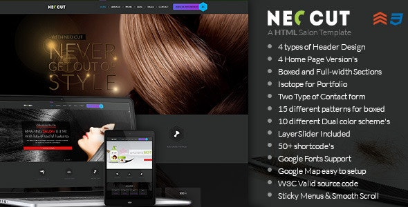 NEO CUT - Hair Salon HTML - Retail Site Templates