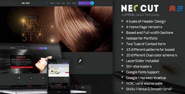 NEO CUT - Hair Salon HTML