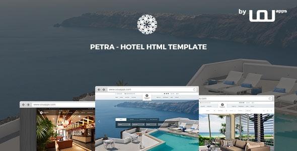 Petra - Hotel, Resort, Bed & Breakfast HTML Template - Travel Retail
