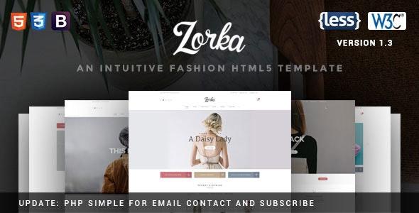 Zorka - An Intuitive Fashion HTML5 Template - Fashion Retail