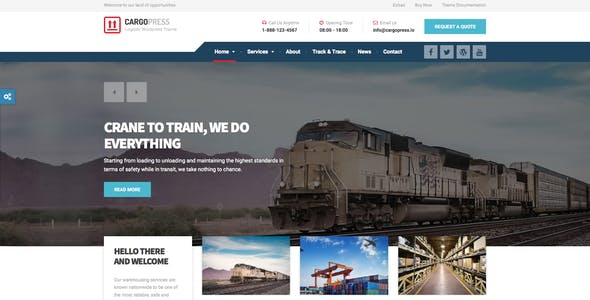 CargoPress - Logistic, Warehouse & Transport HTML
