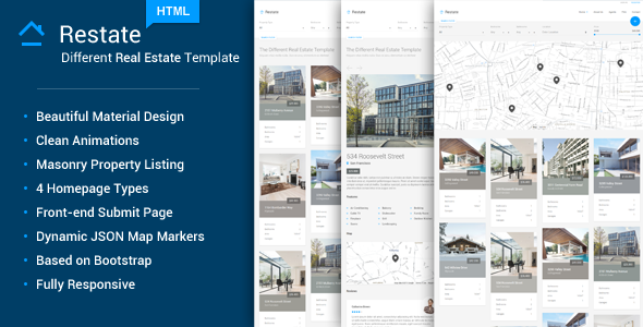Restate - Different Real Estate Material Template - Business Corporate