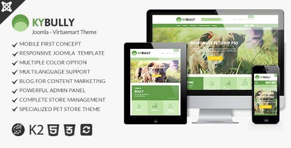 Kybully- Mobile First Joomla Virtuemart Theme