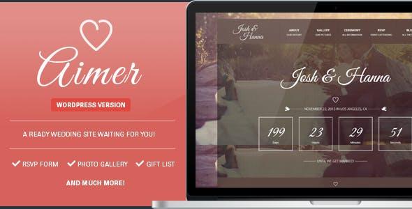 Aimer - Wedding WordPress Theme For Lovers