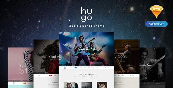Hugo | Music & Bands Sketch Templates - Sketch UI Templates