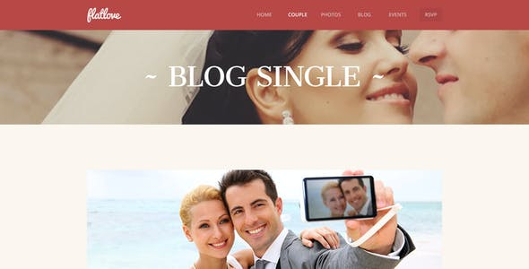 FlatLove - Flat Onepage Wedding Psd Template