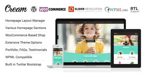 Cream – WooCommerce WordPress Theme