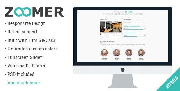 Zoomer - Onepage Responsive HTML5 Template - Portfolio Creative