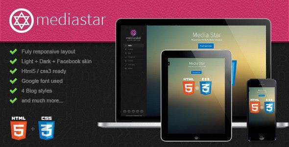 Mediastar- Responsive Html5 Portfolio Template - Creative Site Templates