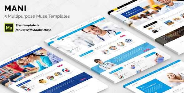 Mani - Multipurpose Template - Corporate Muse Templates