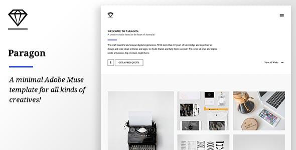 Paragon - Creative Adobe Muse Template