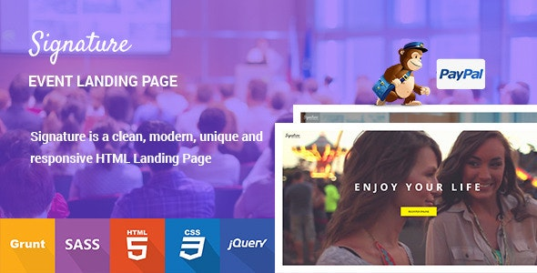 Signature - Event Landing Page - Events Entertainment