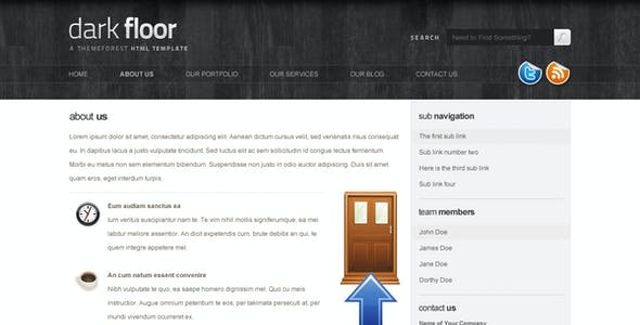 Wood Flooring Website Templates From Themeforest