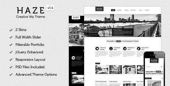 Haze - Beautiful WordPress Theme - Creative WordPress