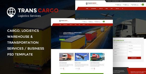 TransCargo - Transport & Logistics PSD Template - Business Corporate