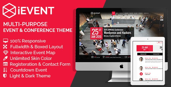 iEVENT - Event & Conference HTML Template - Business Corporate