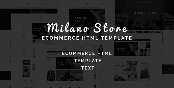 Milano - Multipurpose Ecommerce HTML Template - Retail Site Templates