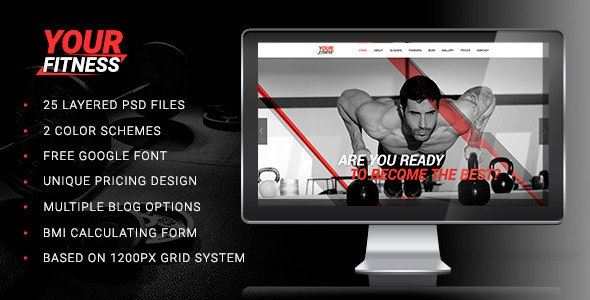Your Fitness — Sport Blog PSD Template - Health & Beauty Retail