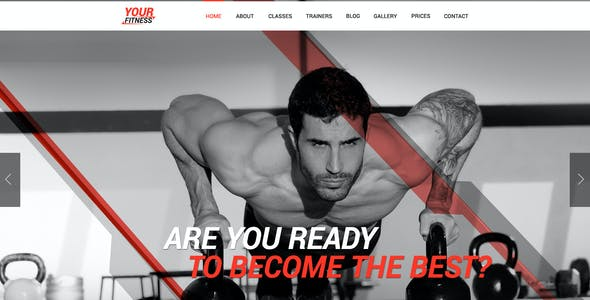 Your Fitness — Sport Blog PSD Template