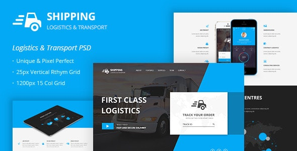 Shipping – Logistics & Transport PSD Template - Business Corporate