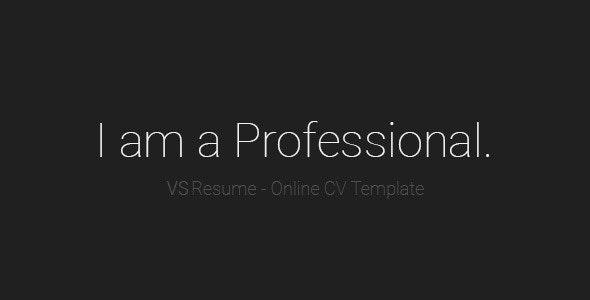 VSResume - Online CV / Resume Template - Resume / CV Specialty Pages