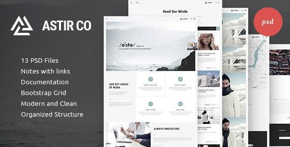 ASTIR - Creative Web Design - Photoshop UI Templates