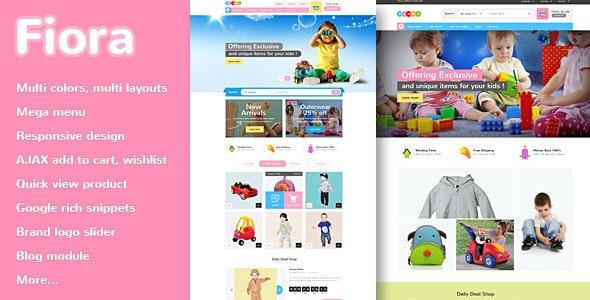 Fiora - Kids Responsive Magento Theme - Shopping Magento