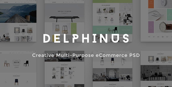 Delphinus - Creative eCommerce PSD template - Shopping Retail