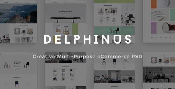 Delphinus - Creative eCommerce PSD template