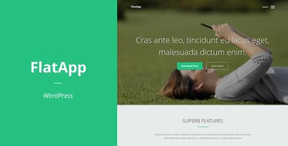 FlatApp | App Landing Page for WordPress - Miscellaneous WordPress