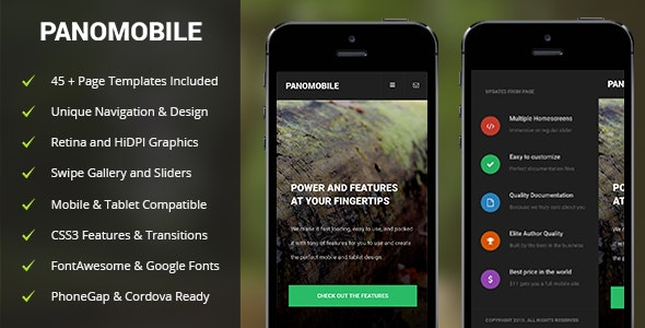 Pano Mobile - Mobile Site Templates