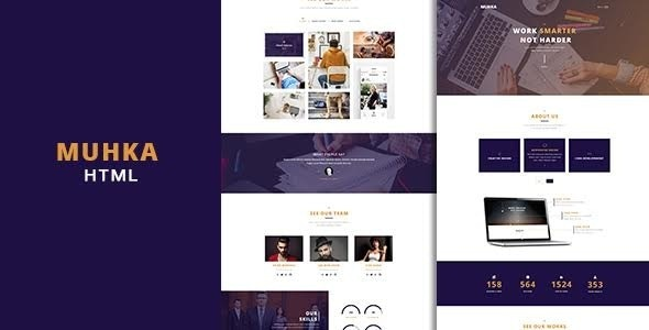 Muhka – Multi Use One/Multi page HTML5 Template - Creative Site Templates