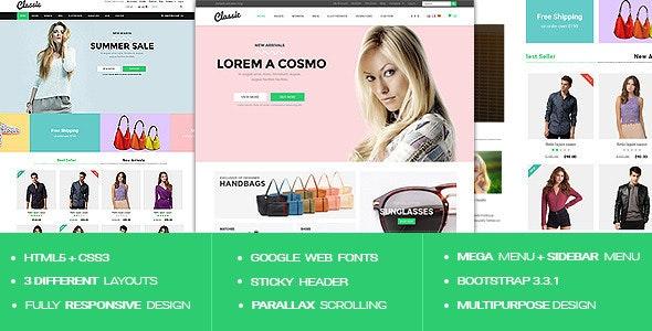 Classic - Responsive Multipurpose HTML5 Template - Shopping Retail