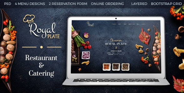 Royal Plate - Restaurant & Catering PSD Template - Restaurants & Cafes Entertainment