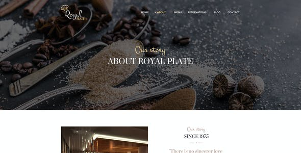 Royal Plate - Restaurant & Catering PSD Template